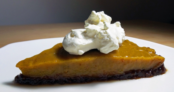 Bourbon Pumpkin Pie (Vegan, Soy-free, Gluten-free)
