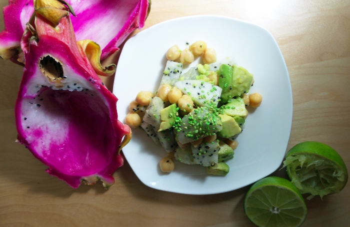 Dragon fruit Chickpea Salad